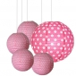 40 x 5per-set Ploka dot Assorted Paper Lanterns