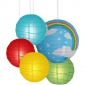40 x 5per-set Rainbow Assorted Paper Lanterns