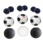 12 pack Assorted Football with pom poms wholesale(25sets/case)