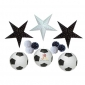12 pack Assorted Football w/ Star pom poms wholesale(25sets/case