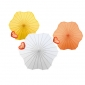 3colors Assorted Six Scalloped Parasols wholesale(100 of case)