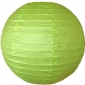 14 Inch Even Ribbing Pale Green Paper Lanterns