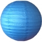 6 Inch Even Ribbing Blue Paper Lanterns