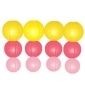 12pack in 3 Size paper lanterns-Yellow-coral-pink