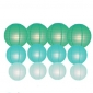 12pack in 3 Size paper lanterns-Teal-tiffany-ice blue