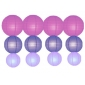 12pack in 3 Size paper lanterns-Violet-blueberry-lavender