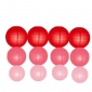 12pack in 3 Size paper lanterns-Red-coral-pink