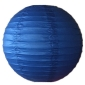 16 Inch Even Ribbing Royal Blue Paper Lanterns