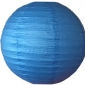 6 Inch Even Ribbing Sea Blue Paper Lanterns