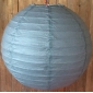 12 Inch Even Ribbing Dim Gray Paper Lanterns