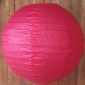 16 Inch Even ribbing flamingo paper lanterns