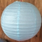 14 Inch Even Ribbing Light Blue Paper Lanterns