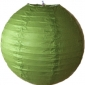 14 Inch Even Ribbing Army Green Paper Lanterns