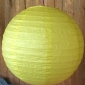 14 Inch Even Ribbing Lemon Yellow Paper Lanterns