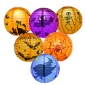 6D Halloween Paper Lanterns assorted