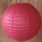 24 Inch even ribbing Dark red paper lanterns