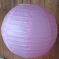 24 Inch even ribbing pearl pink paper lanterns