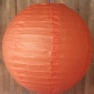 24 Inch Even Ribbing Blaze Orange Paper Lanterns