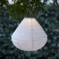 Diamonds Designed Out Door Solar LED-Powered Fabric Lamp
