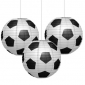 "3pck 12"" Football Patterned Paper Lantern"