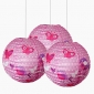 "3pack 12"" Birds with betterfly patterned paper lantern"