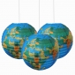 "3pack 12"" Globe patterned paper lanterns"