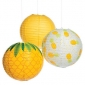 "3pck 12"" pineapple-hanging-paper-lanterns(3 packX50)"