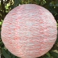 "12"" pink texture Solar LED-Powered Fabric Lamp"