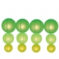 12pack in 3 Size paper lanterns-grass-light lime-chartreuse