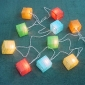 "3"" SQUARE Paper shade string lights-20L"