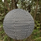 "12"" Black chevron Out Door Solar LED-Powered Fabric Lamp"