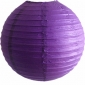 6 Inch Even Ribbing Dark Purple Paper Lanterns