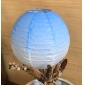 12 inch changed color paper lantern-light blue