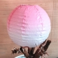 12 inch changed color paper lantern-pearl pink