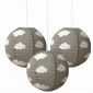 "3pack 12"" clouds patterned paper lantern"
