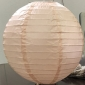 24 Inch even ribbing Pale pink paper lanterns