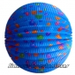 "12"" Blue Dot Accordion Paper Lanterns"