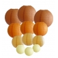 colors & sizes combination paper lanterns-orange