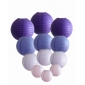 colors & sizes combination paper lanterns-purple