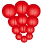 4 sizes combination Red paper lanterns