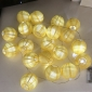 "3"" Yellow Paper Shaped Party String Lights-20L"