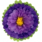 "10"" Paper Tissue Flower -purple lavender yellow"