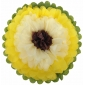 "10"" Paper Tissue Flower -yellow ivory brown"