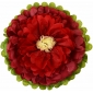 "18"" Paper Tissue Flower -Mauve- red -ivory(300 of case)"