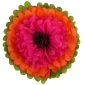"18"" Paper Tissue Flower -butterscotch coral brown"